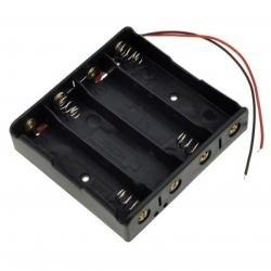Koszyk na akumulator 4x 18650 3,7V Li-Ion - koszyczek na baterie (ogniwo) z przewodami