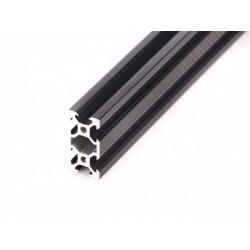 Profil aluminiowy V-SLOT 2040 130cm - czarny- do drukarek 3D, stelaży, maszyn przemysłowych