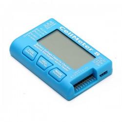 Miernik / Tester akumulatorów do 8S Lipol, LiFe, NiCd, NiMH - balanser, rozładowarka i tester serw