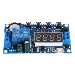 Cyfrowy Timer czasowy XY-BJ 5-60V - moduł z przekaźnikiem 10A - Alarm