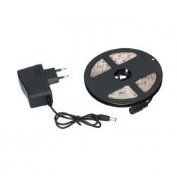 Taśma LED 5m z zasilaczem - biały ciepły - wodoodporna taśma LED