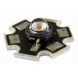Power LED 1W biała zimna - star - z radiatorem - 80lm