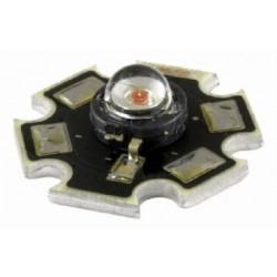 Power LED 3W czerwona - star - z radiatorem - 80lm