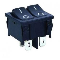Przełącznik klawiszowy - MRS2101A-C3B 6A 250V - podwójny ON-OFF
