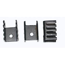 Radiator TO220 czarny - 13x19x3mm - do stabilizatorów, tranzystorów