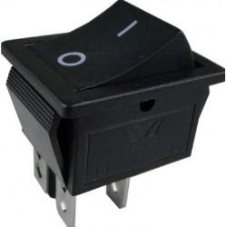 Przełącznik klawiszowy - RS201-6C3B 15A 250V ON-OFF - czarny