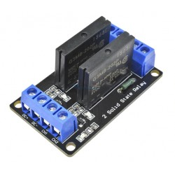 Moduł przekaźnik 2-kanały półprzewodnikowy 5V SSR - Arduino