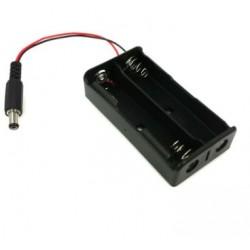 Koszyk na akumulator 2x 18650 - wtyk Jack DC 2.1