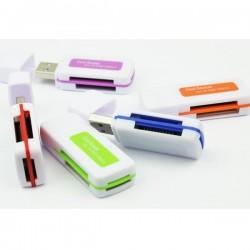 Czytnik USB 2.0 do kart pamięci - All in One - SD Micro-SD MS M2 TF