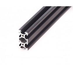 Profil aluminiowy V-SLOT 2040 300cm - czarny- do drukarek 3D, stelaży, maszyn przemysłowych