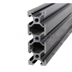 Profil aluminiowy V-SLOT 2060 300cm - czarny - do drukarek 3D, stelaży, maszyn przemysłowych