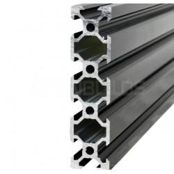 Profil aluminiowy V-SLOT 2080 300cm - czarny- do drukarek 3D, stelaży, maszyn przemysłowych