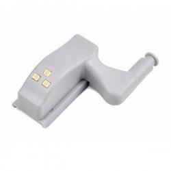 Automatyczna Lampka LED do szafki szafy na zawias drzwiczki - biała ciepła