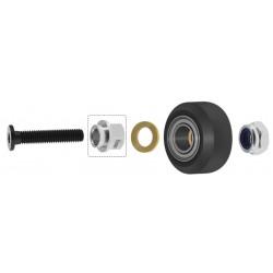 Rolka V-SLOT, C-BEAM - 5x15,5x8,9mm - zestaw ze śrubą, mimośrodem, nakrętką