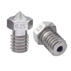 Dysza stalowa 0,4mm M6 - Filament 1,75mm - H12.7mm - mały stożek - RepRap E3D V5 V6