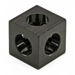 3-stronna kostka połączeniowa - czarna - V-SLOT, T-SLOT