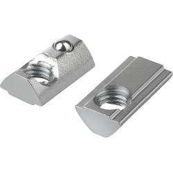 Nakrętka teowa sprężynowa - M5 - 1 szt - do profili aluminiowych