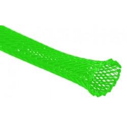 Oplot na przewody 4mm/8mm - zielony neonowy - oplot poliestrowy/ Plecionka - 1mb