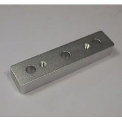 Dystans osi X - OX - Frezarka CNC - srebrny