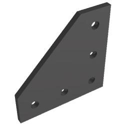 Płytka połączeniowa 90 stopni - czarna - anodowana - V-SLOT, T-SLOT