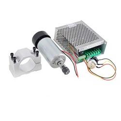 Wrzeciono 300W - zestaw zasilacz + uchwyt - Frezarka CNC