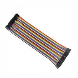 Przewody kable zworki 40szt 20cm - żeńsko-żeńskie
