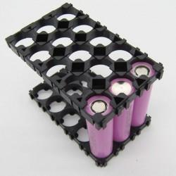 Plastikowa obudowa 3x5 do pakietowania akumulatorów Li-Ion 18650 - na 15 szt.