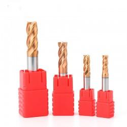 Frez 4 pióra - 2mm - HRC55 węglik - do metali