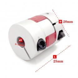 Sprzęgło kłowe 6,35x8mm - bezluzowe - CNC / Drukarki 3D / Lasery