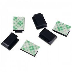 Organizer do kabli 12x3x9.5mm - 10szt czarny - uchwyt na wiązkę przewodów - klips samoprzylepny