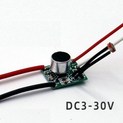 Moduł przełącznika oświetlenia sterowany dźwiękiem 3-30VDC 1A - klaskacz