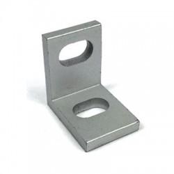 Aluminiowy łącznik do profili 2020 - kątowy - srebrny