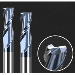 Frez 2 pióra - 2mm - HRC50 węglik - do metali