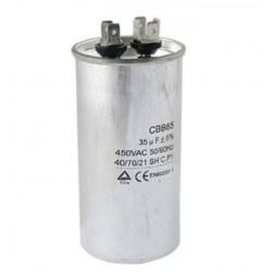 Kondensator silnikowy 15uF/450VAC CBB65 z konektorami