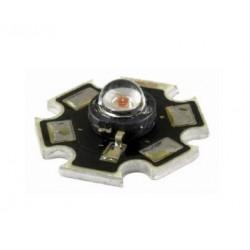 Power LED 1W biała ciepła - star - z radiatorem - 80lm