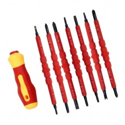 Zestaw wkrętaków izolowanych 500V 8 szt - komplet śrubokrętów dla Elektryka