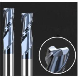 Frez 2 pióra - 2,5mm - HRC50 węglik - do metali