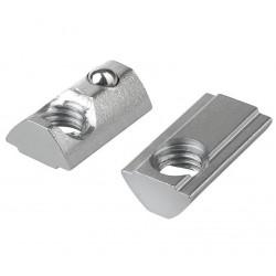 Nakrętka teowa sprężynowa - M4 - 1 szt - do profili aluminiowych